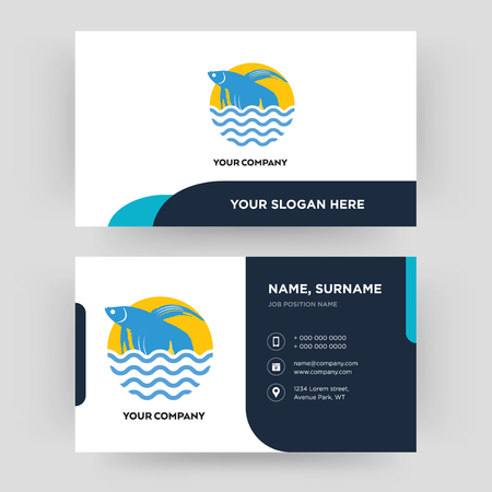 betta fish, business card design template, Visiting for your company, Modern Creative and Clean identity Card Vector