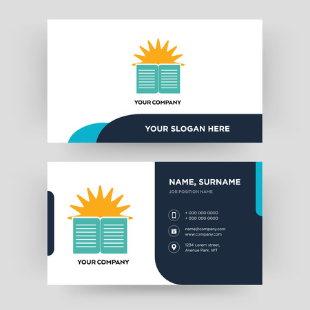 sunday school, business card design template, Visiting for your company, Modern Creative and Clean identity Card Vector