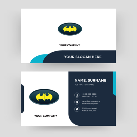 bat, business card design template, Visiting for your company, Modern Creative and Clean identity Card Vector
