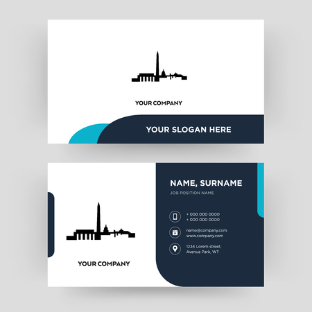 dc, business card design template, Visiting for your company, Modern Creative and Clean identity Card Vector