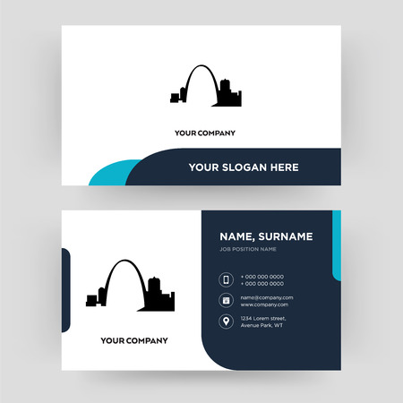 missouri, business card design template, Visiting for your company, Modern Creative and Clean identity Card Vector