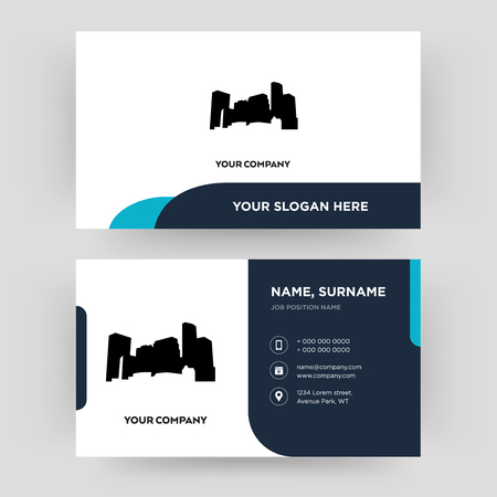 minnesota, business card design template, Visiting for your company, Modern Creative and Clean identity Card Vector  イラスト・ベクター素材