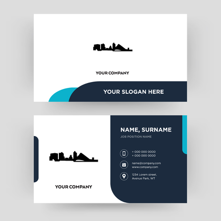 wisconsin, business card design template, Visiting for your company, Modern Creative and Clean identity Card Vector