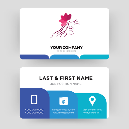 parlour, business card design template, Visiting for your company, Modern Creative and Clean identity Card Vector Illustration