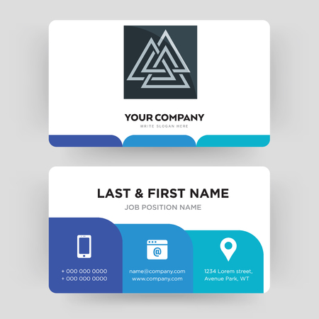 Valknut business card design template visiting for your company valknut business card design template visiting for your company modern creative and clean wajeb Choice Image