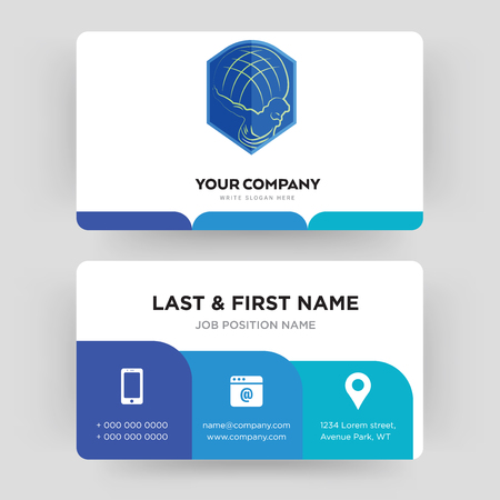 atlas, business card design template, Visiting for your company, Modern Creative and Clean identity Card Vector