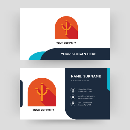 psi, business card design template, Visiting for your company, Modern Creative and Clean identity Card Vector