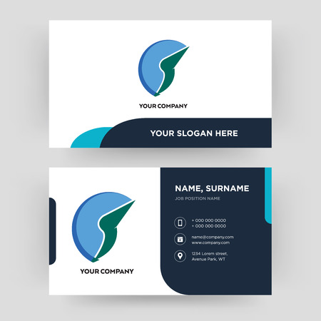 trading co, business card design template, Visiting for your company, Modern Creative and Clean identity Card Vector