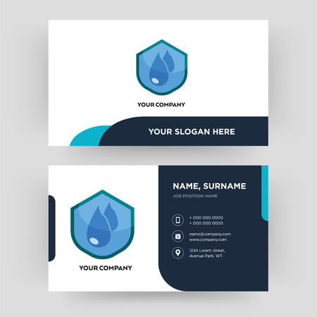 water resistant, business card design template, Visiting for your company, Modern Creative and Clean identity Card Vector