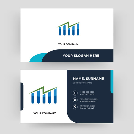 free stock, business card design template, Visiting for your company, Modern Creative and Clean identity Card Vector Illustration
