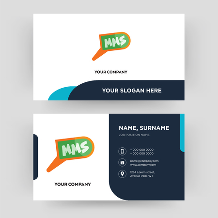 mms, business card design template, Visiting for your company, Modern Creative and Clean identity Card Vector Stock Illustratie