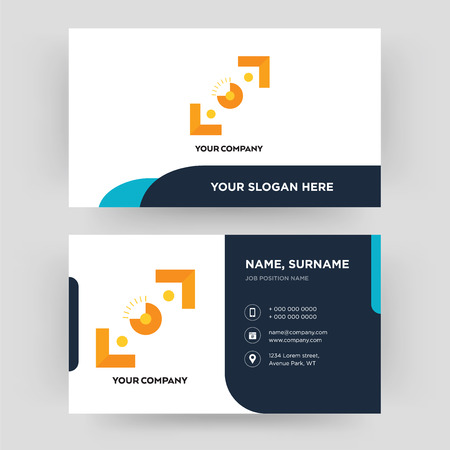 viewfinder, business card design template, Visiting for your company, Modern Creative and Clean identity Card Vector