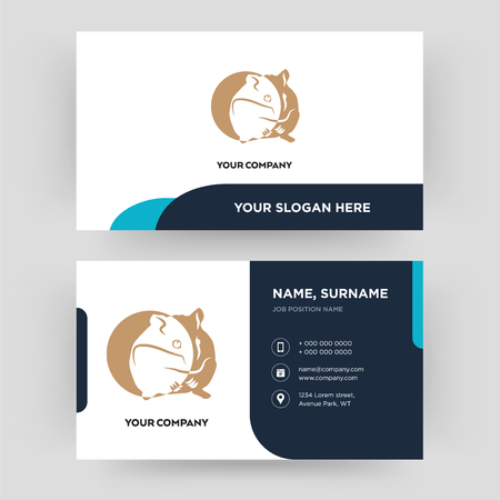 hamster, business card design template, Visiting for your company, Modern Creative and Clean identity Card Vector