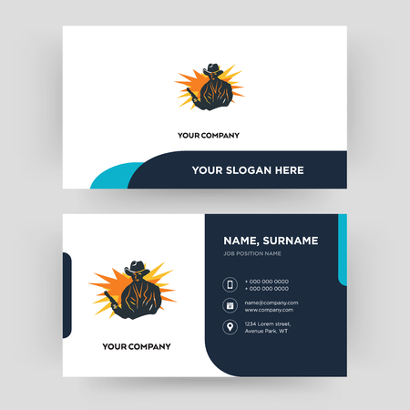 outlaw, business card design template, Visiting for your company, Modern Creative and Clean identity Card Vector