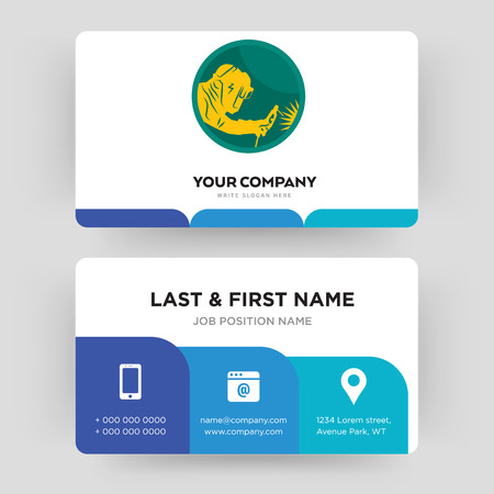welder, business card design template, Visiting for your company, Modern Creative and Clean identity Card Vector Vetores
