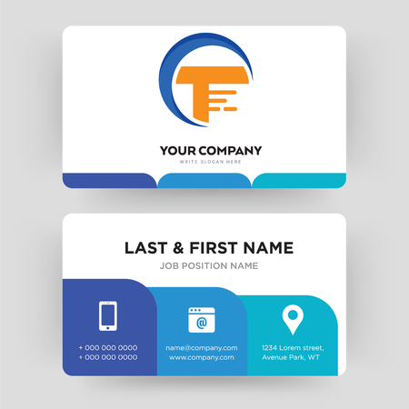 traders, business card design template, Visiting for your company, Modern Creative and Clean identity Card Vector