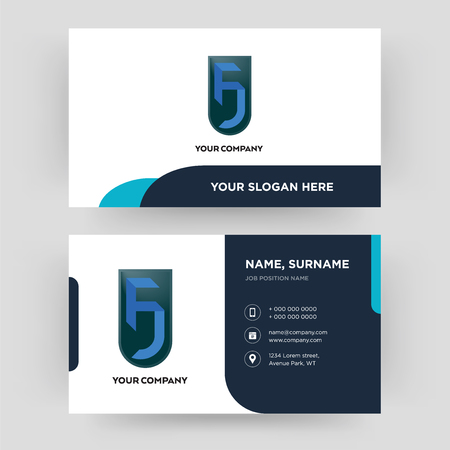 jf, business card design template, Visiting for your company, Modern Creative and Clean identity Card Vector