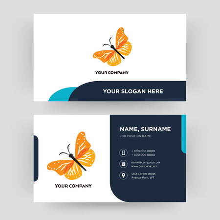 monarch butterfly, business card design template, Visiting for your company, Modern Creative and Clean identity Card Vector