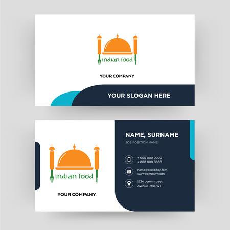 Indian food business card design template visiting for your indian food business card design template visiting for your company modern creative and friedricerecipe Choice Image
