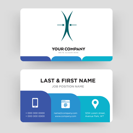 elastic, business card design template, Visiting for your company, Modern Creative and Clean identity Card Vector