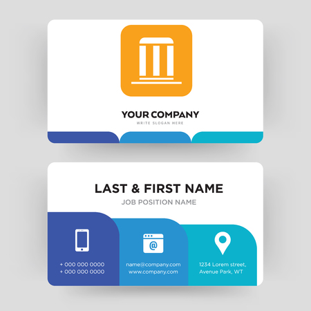 municipality, business card design template, Visiting for your company, Modern Creative and Clean identity Card Vector