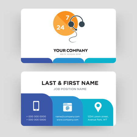 live support, business card design template, Visiting for your company, Modern Creative and Clean identity Card Vector