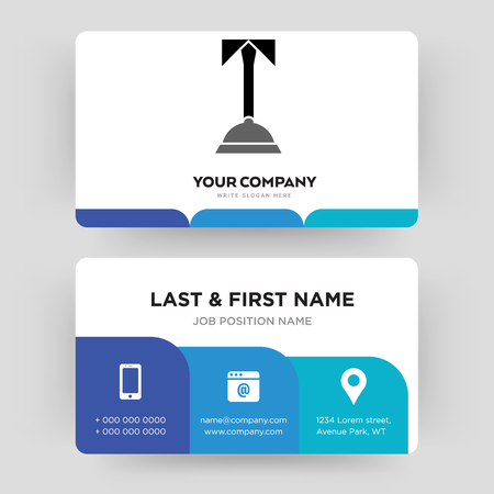 concierge, business card design template, Visiting for your company, Modern Creative and Clean identity Card Vector