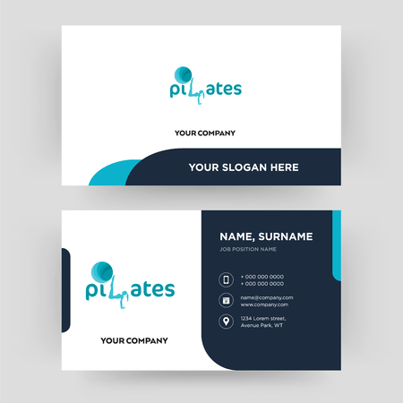 SOZ, business card design template, Visiting for your company, Modern Creative and Clean identity Card Vector Ilustração