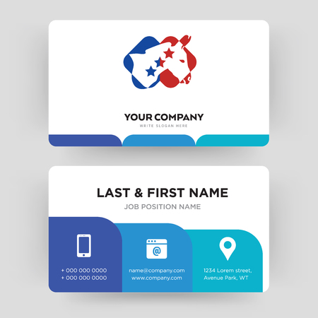 democrat, business card design template, Visiting for your company, Modern Creative and Clean identity Card Vector
