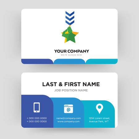military, business card design template, Visiting for your company, Modern Creative and Clean identity Card Vector
