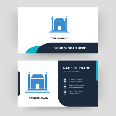 municipal, business card design template, Visiting for your company, Modern Creative and Clean identity Card Vector Illustration