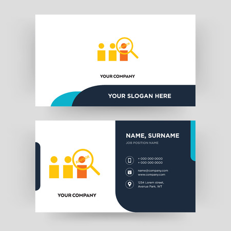 advisor, business card design template, Visiting for your company, Modern Creative and Clean identity Card Vector