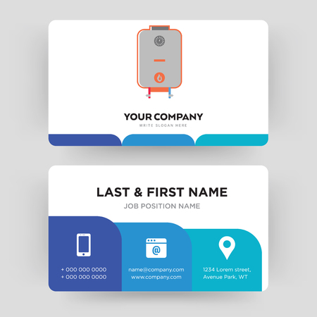 boiler, business card design template, Visiting for your company, Modern Creative and Clean identity Card Vector