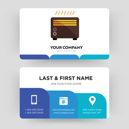 heater, business card design template, Visiting for your company, Modern Creative and Clean identity Card Vector