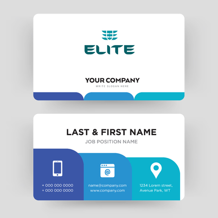 the elite, business card design template, Visiting for your company, Modern Creative and Clean identity Card Vector Banque d'images - 102403154