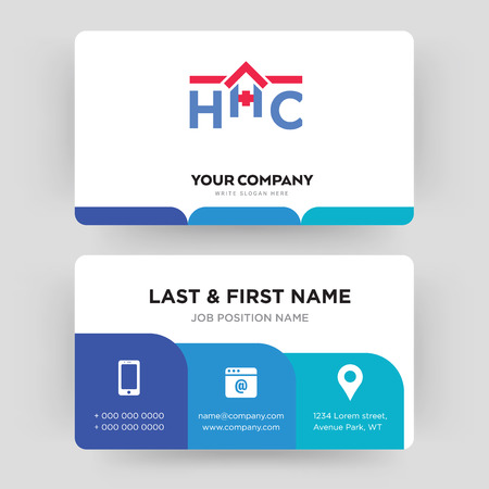 home health care, business card design template, Visiting for your company, Modern Creative and Clean identity Card Vector Illustration