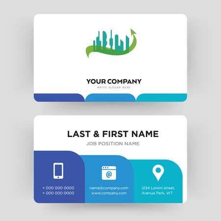 future city, business card design template, Visiting for your company, Modern Creative and Clean identity Card Vector
