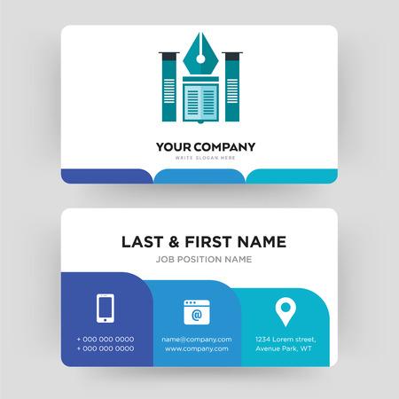 Bildungsinstitut, Visitenkarten-Design-Vorlage, Besuch für Ihr Unternehmen, Modern Creative und Clean Identity Card Vector Vektorgrafik