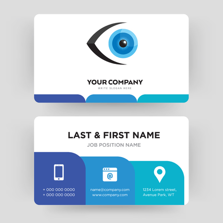 eyeball, business card design template, Visiting for your company, Modern Creative and Clean identity Card Vector