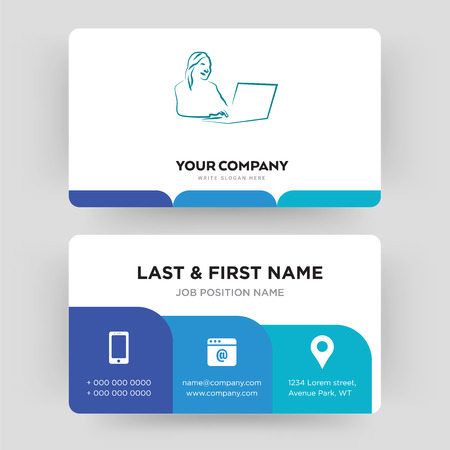 secretary, business card design template, Visiting for your company, Modern Creative and Clean identity Card Vector