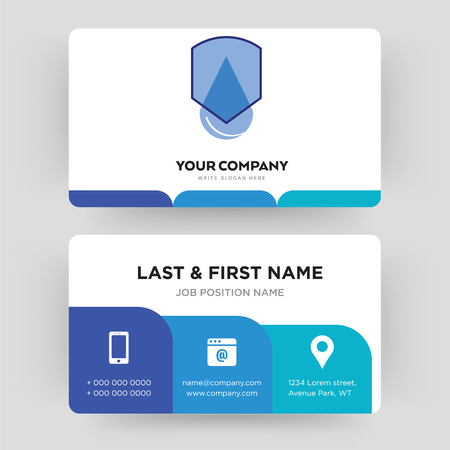 waterproof, business card design template, Visiting for your company, Modern Creative and Clean identity Card Vector