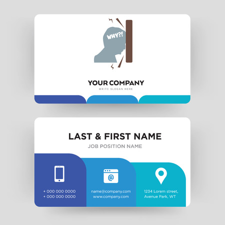 frustration, business card design template, Visiting for your company, Modern Creative and Clean identity Card Vector