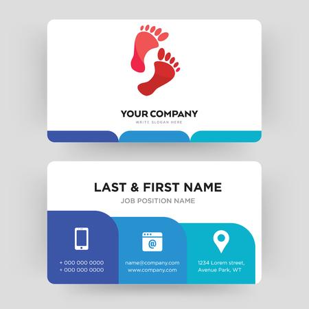 huella, plantilla de diseño de tarjeta de visita, visita para su empresa, vector de tarjeta de identidad moderno, creativo y limpio