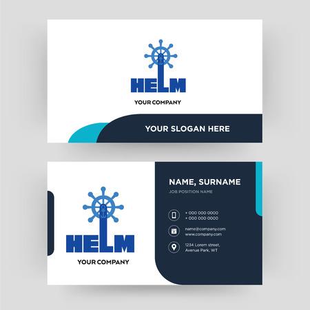 timone, modello di progettazione di biglietti da visita, visita per la tua azienda, vettore di carta d'identità moderna e pulita