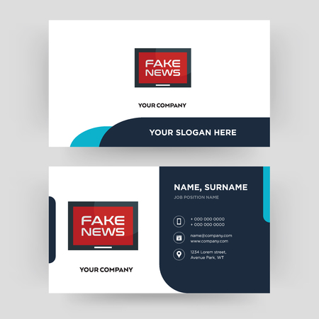 fake news business card design template visiting for your company modern creative and - Fake Business Cards