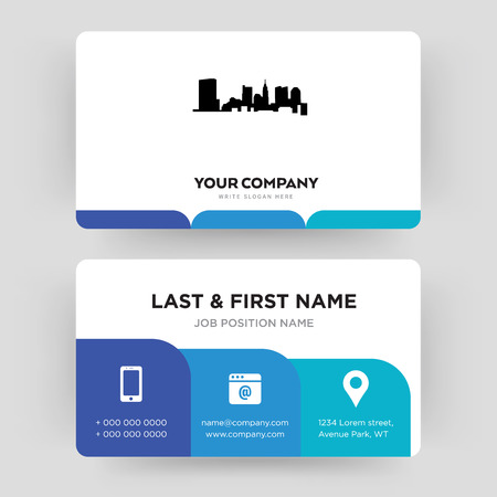 state of ohio, business card design template, Visiting for your company, Modern Creative and Clean identity Card Vector