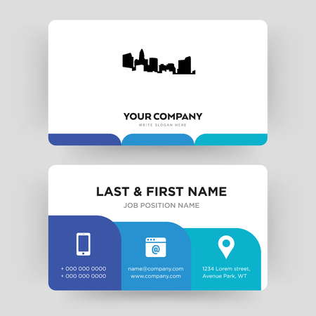 north carolina state, business card design template, Visiting for your company, Modern Creative and Clean identity Card Vector