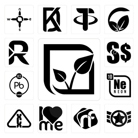 Set Of 13 simple editable icons such as pure veg, air force, nf, , carcinogen, neon, chemical, singapore dollar, south african rand can be used for mobile, web UI