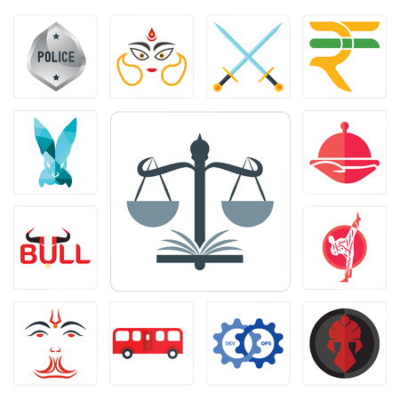 Set Of 13 simple editable icons such as naacp, spartan, devops, bus, anjaneya, karate, bull, foodora, deceit can be used for mobile, web UI Illustration