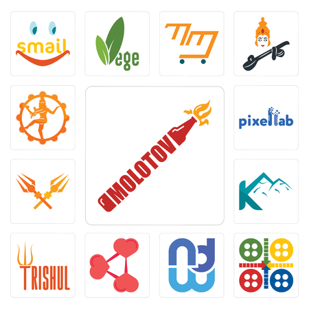 Set Of 13 simple editable icons such as molotov, ludo, wnd, share png, trishul, k mountain, pixellab, nataraj can be used for mobile, web UI